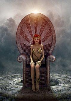 Book Cover, Fantasy, Throne, Girl, Magical, Mystical