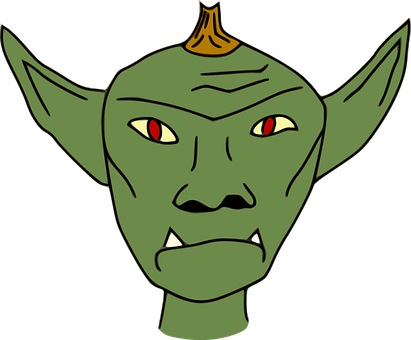 Game Asset Call, Non-human Beings, Simple Goblin Head
