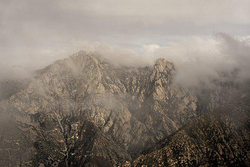 Mountain, Clouds, Storm, Landscape, Mountains, Fog
