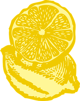 Lemon, Yellow, Slice, Portion, Plant, Fruit, Acidic