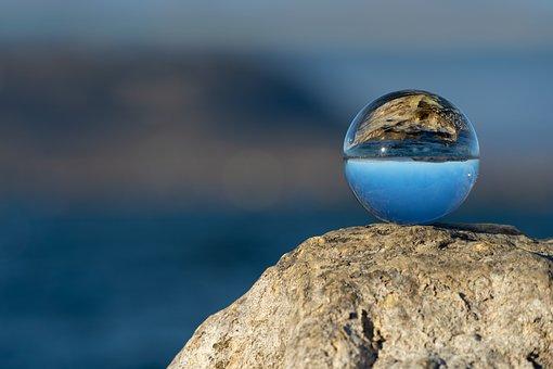 Glass Ball, Water, Nature, Sky, Lake, Summer