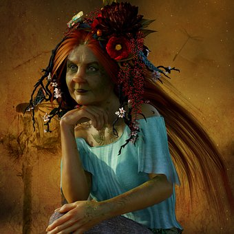 The Witch, Headdress, Floral Wreath