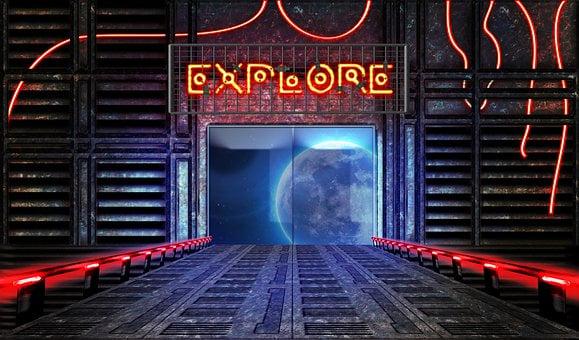 Explore, Outer Space, Sci-fi, Fantasy, Ship, Ufo