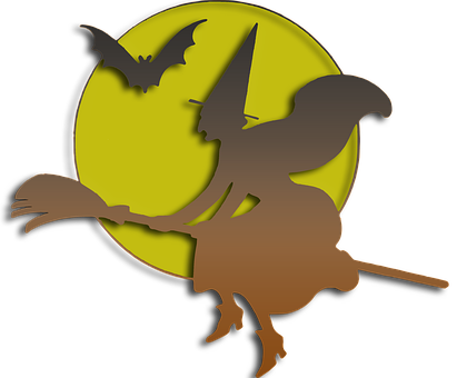 Witch, Halloween, Bats, Scary, Night, Dark, Mysterious