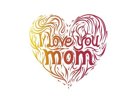 Mother'S Day, Mother, Heart, Flower
