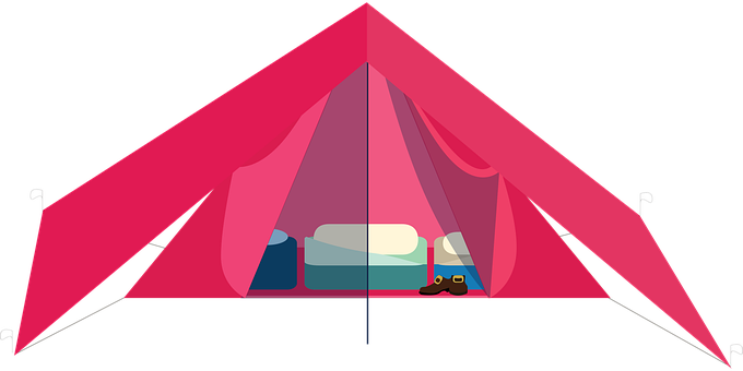 Graphic, Camping, Tent, Hiking