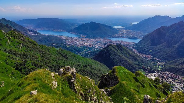 Landscape, Lake, Lake Of Como, Lake Como, Mountains