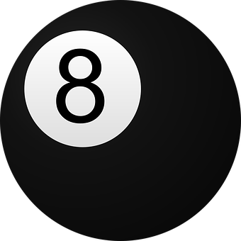 Billiard Ball, 8, Billiard, Ball, Black, Circle, Eight