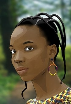 Africa, African Woman, Black, Black Woman, Drawing