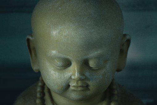 Vesak, Buddha, Head, Statue, Cold, Dark, Zen, Religion