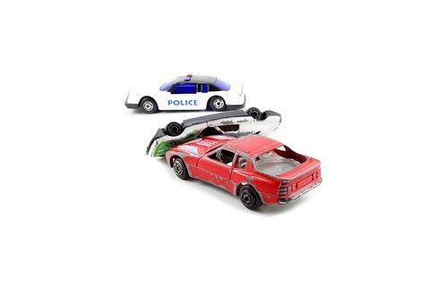 Car, Red, Police, Crash, Auto, Vehicle, Automobile