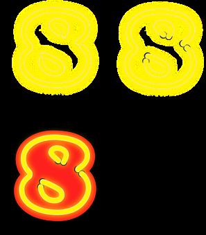 Eight, Number, Digit, Phosphoric, 8, Numeral, Arabic