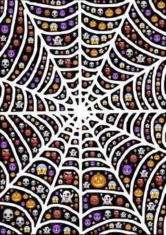 Web, Spiderweb, Halloween, Emoji, Scary, Frightful