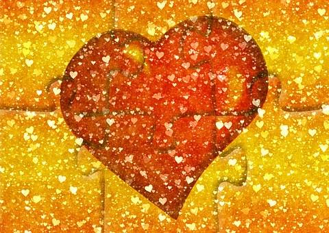 Heart, Background, Wallpaper, Puzzle, Many, Arrangement