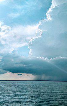 Clouds, Sky, Nature, Landscape, Beach, Sea, Storm