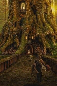 Wanderer, Traveler, Man, Return Meeting, Joy