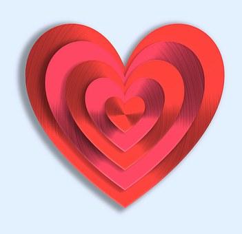 Valentine's Day, Valentine, Love, Heart, Red, Metallic
