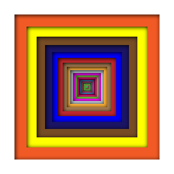 Square, Abstract, Geometric, Art
