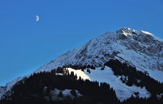 Twilight, New Moon, Mountains, Mood, Black Forest, Peak