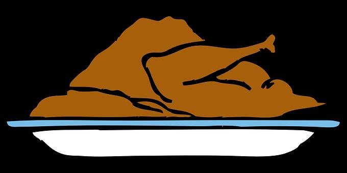 Turkey, Brown, Platter, Food, Holiday