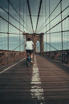Nyc, Brooklyn Bridge, City, America, Usa, Architecture