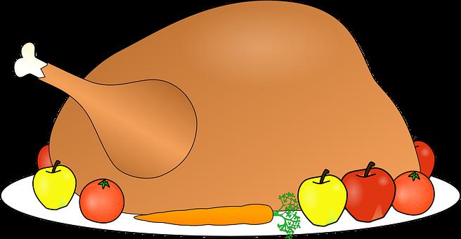 Turkey, Food, Dinner, Feast, Platter, Fruit, Plate