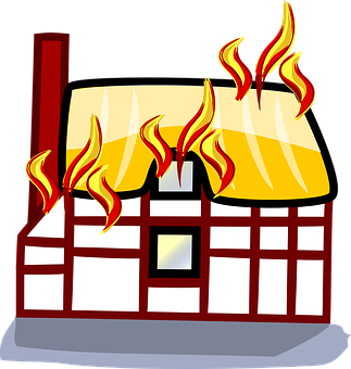 Fire, Building, House, Home, Burning, Accident, Loss