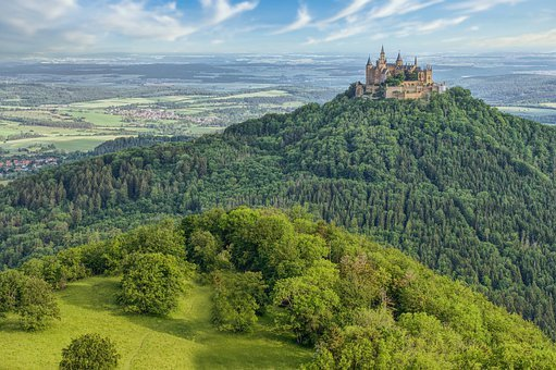 Castle, Hohenzollern, Middle Ages, Landscape, Germany