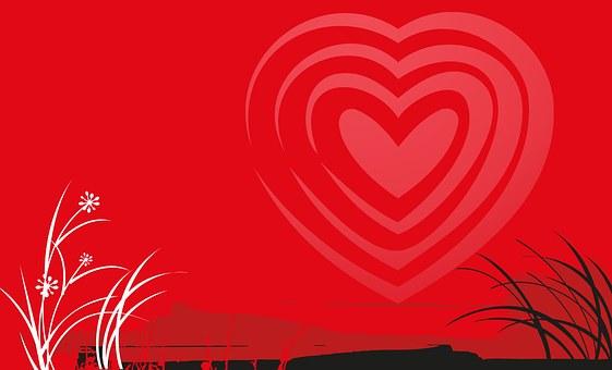 Valentine, Heart, Valentine's Day, Love, Landscape