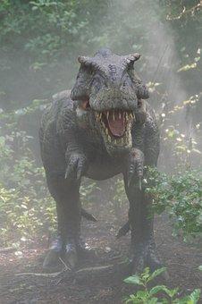 Dinosaur, Mist, Fog, Monster, Jurassic Park, Forest