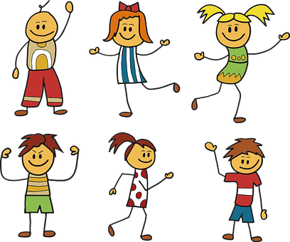 Children, School, The Figure Of The, Cartoon, Education
