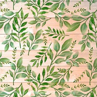 Wood Background, Leaf Pattern, Wood And Leaf, Pattern