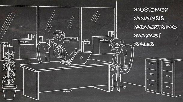 Marketing, Office, Cartoon, Presentation, Corporate
