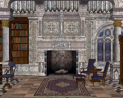 Library, Grand Room, Books, Chair, Study, Elegance