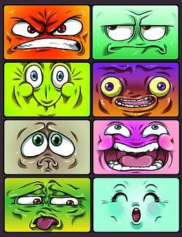 Emotion, Smiley, Icons, Cartoon, Graphic, Comic