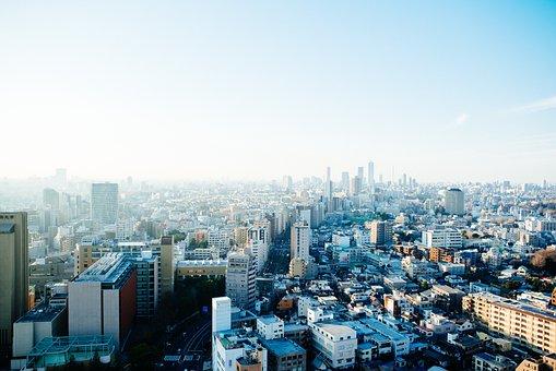 Buildings, Sky, Japan, City, Tokyo, Architecture