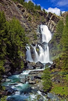 Waterfalls, Mountain, Alps, National Park