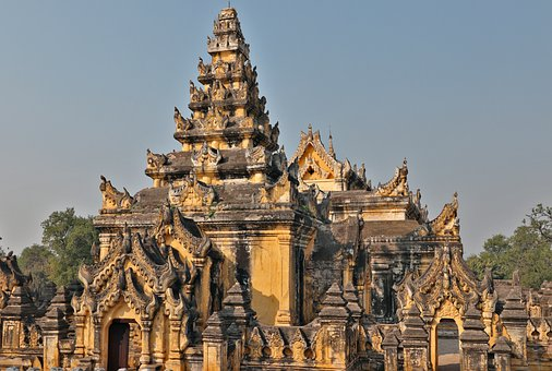 Monastery, Maha Aung Clam Bonzan, Ava, Burma, Temple