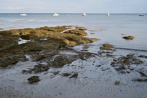 Sea, Ship, Water, Nature, Landscape, Coast, Mood