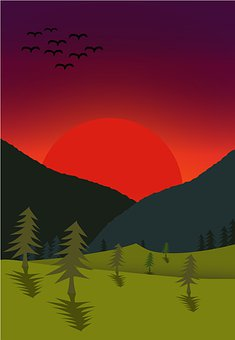 Vector, The Landscape, Nature, Illustrator, Sky