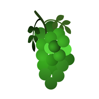 Grapes, Grapes Icon, Icon, Pineapple, Bananas, Green