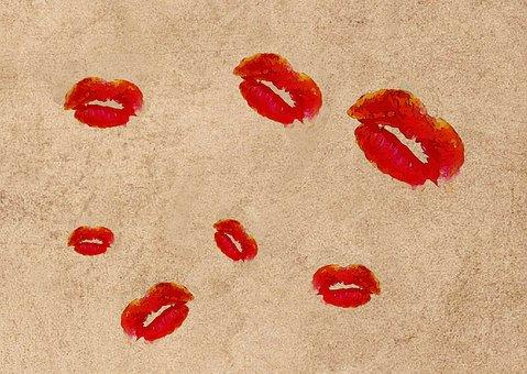 Wallpaper, Kiss, Kisses, Pattern, Backdrop, Lips, Sexy