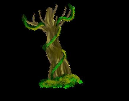 Tree, Leaves, Digital, Art, Autumn, Nature, Leaf