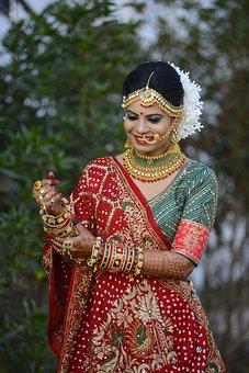 Wedding, Bride, India, Female, Marriage, Girl, Elegant