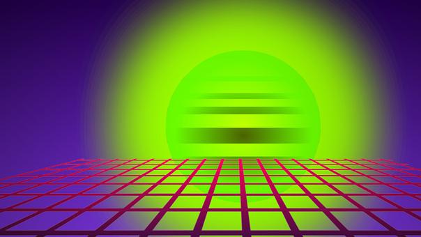 Neon, Green, Light, The Planet, Rings
