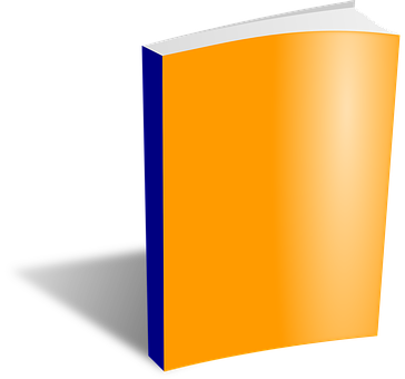 Notepad, Book, Cover, Library, Orange, Paper, Office
