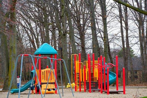 Park, Square, Playground, Children, Holiday
