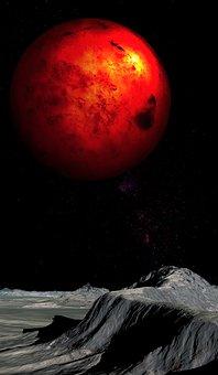 Planet, Salt Stone Lamp, Space, Space Art, Ridge