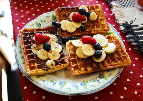 Waffles, Breakfast, Food, Morning, Tasty, Delicious