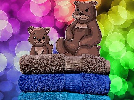 Bear, Colors, Teddy Bear, Background, New Year, Happy